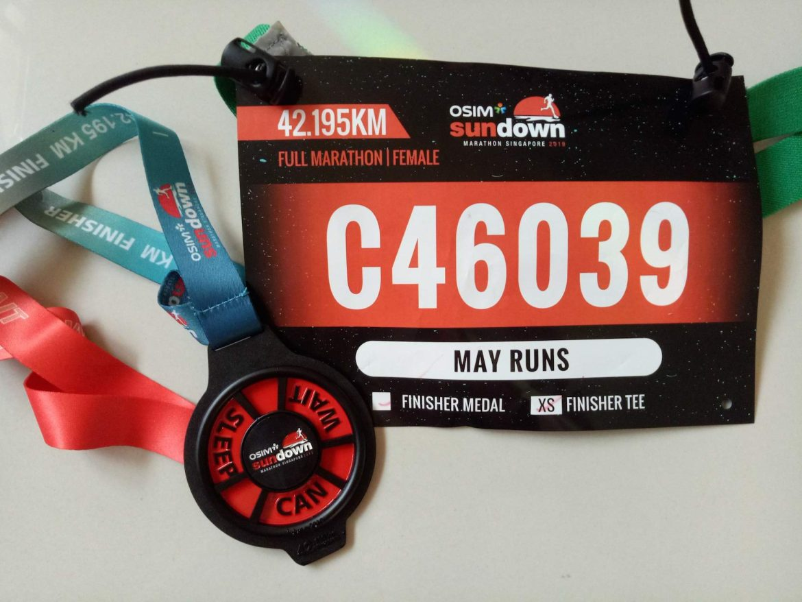 Sundown Marathon 2019 – Almost 2-hour off my PB.